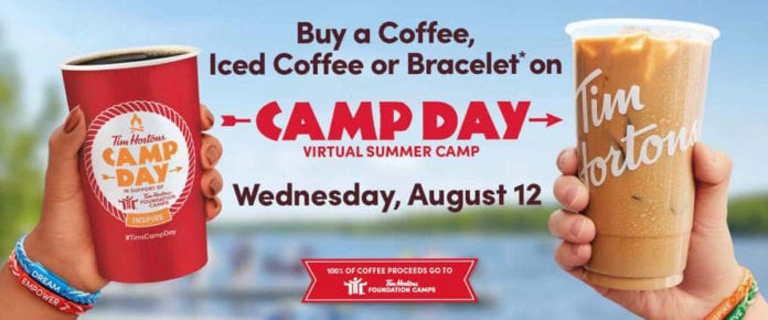 Tim Hortons Camp Day 2020 promo image