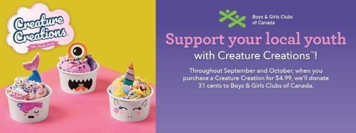 Baskin-Robbins invites Canadians to support Boys and Girls Club of Canada with new fundraiser featuring